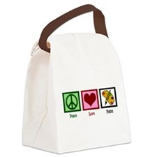 Peace Love Painting Canvas Lunch Bag
