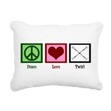 Peace Love Twirl Rectangular Canvas Pillow