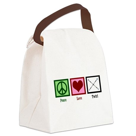 Peace Love Twirl Canvas Lunch Bag