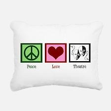 Peace Love Theatre Rectangular Canvas Pillow