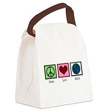 Peace Love Earth Canvas Lunch Bag
