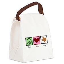 Peace Love Texas Canvas Lunch Bag