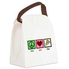 Peace Love Pizza Canvas Lunch Bag