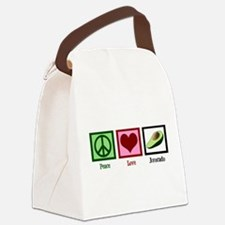 Peace Love Avocado Canvas Lunch Bag