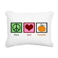 Peace Love Pumpkin Rectangular Canvas Pillow