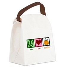 Peace Love Pumpkin Canvas Lunch Bag