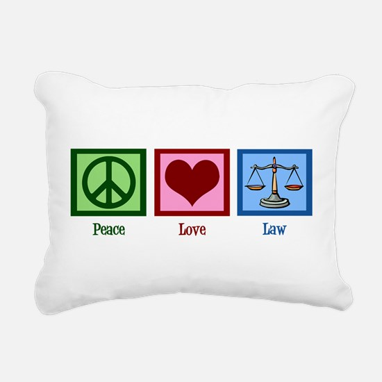 Peace Love Law Rectangular Canvas Pillow