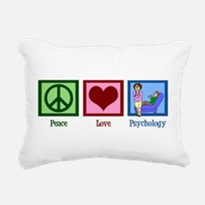 Peace Love Psychology Rectangular Canvas Pillow
