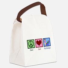 Peace Love Psychology Canvas Lunch Bag