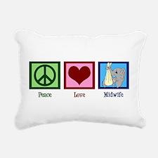 Peace Love Midwife Rectangular Canvas Pillow