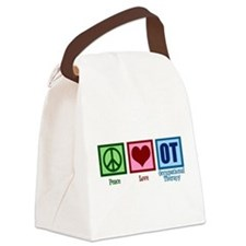 Peace Love OT Canvas Lunch Bag