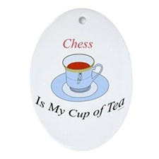 Chess is my cup of tea Oval Ornament
