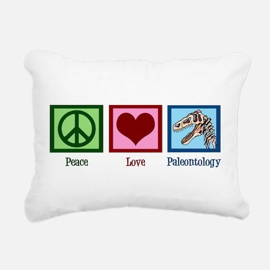 Peace Love Paleontology Rectangular Canvas Pillow