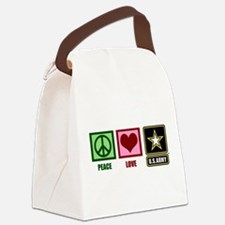 Peace Love Army Canvas Lunch Bag