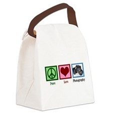 Peace Love Photography Canvas Lunch Bag