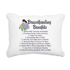 Breastfeeding Benefits Rectangular Canvas Pillow