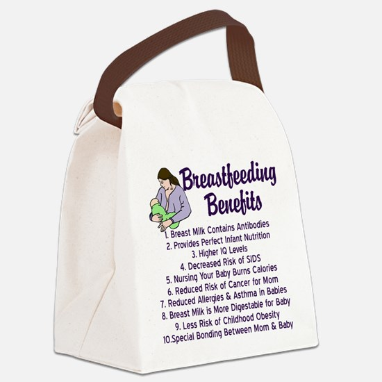 Breastfeeding Benefits Canvas Lunch Bag