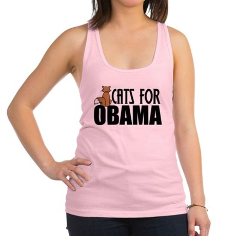 Cats for Obama Racerback Tank Top