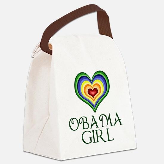 Obama Girl Canvas Lunch Bag