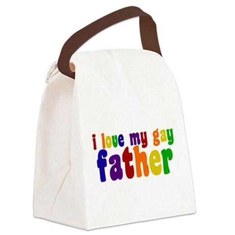 I Love My Gay Father Canvas Lunch Bag