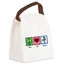 Peace Love Dragons Canvas Lunch Bag