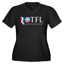 ROTFL 2012 Women's Plus Size V-Neck Dark T-Shirt