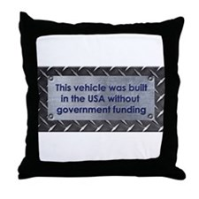Built in the USA Throw Pillow