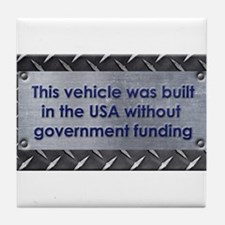 Built in the USA Tile Coaster
