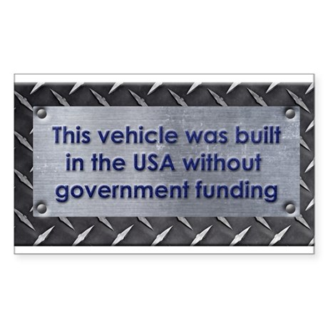 Built in the USA Sticker (Rectangle)