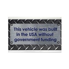 Built in the USA Rectangle Magnet