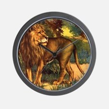 Vintage Lion Painting Wall Clock