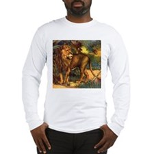Vintage Lion Painting Long Sleeve T-Shirt
