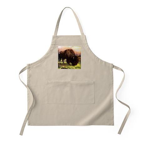 Vintage Bison Painting Apron