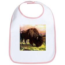 Vintage Bison Painting Bib