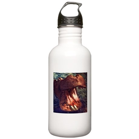 Vintage Hippopotamus Stainless Water Bottle 1.0L