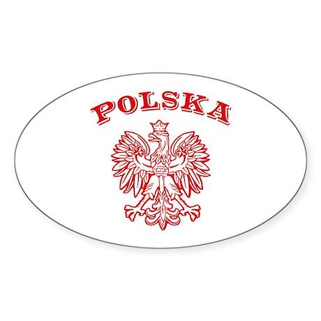 Polska Oval Sticker