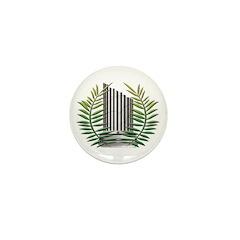 Masonic Widow's Pin Mini Button