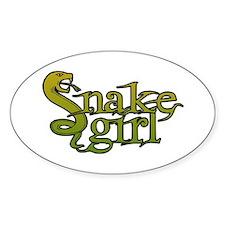 Snake Girl Oval Decal