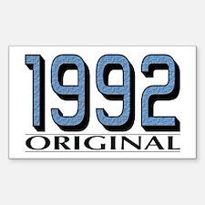 1992 Original Rectangle Decal