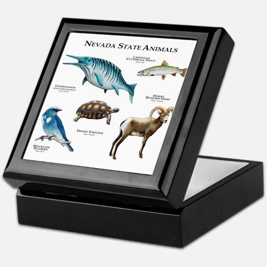 Nevada State Animals Keepsake Box