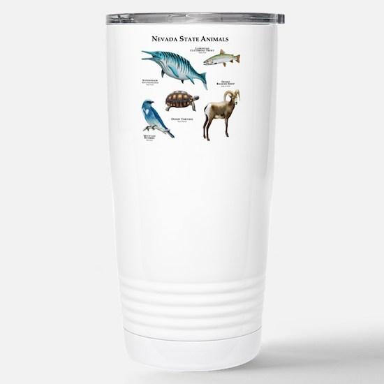 Nevada State Animals Stainless Steel Travel Mug