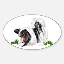 Papillon Lady Bug Oval Decal