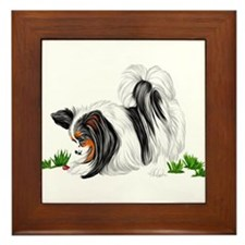Papillon Lady Bug Framed Tile