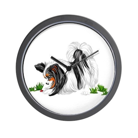 Papillon Lady Bug Wall Clock