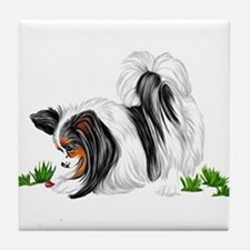 Papillon Lady Bug Tile Coaster