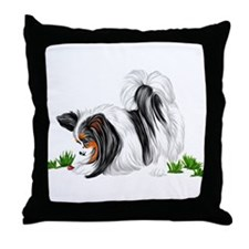 Papillon Lady Bug Throw Pillow