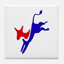 Democratic Party Donkey (Jackass) Tile Coaster