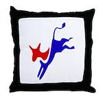 Democratic Party Donkey (Jackass) Throw Pillow