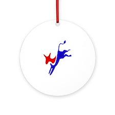 Democratic Party Donkey (Jackass) Ornament (Round)