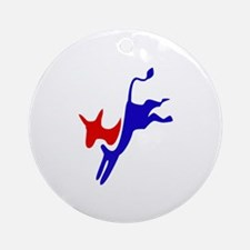 Democratic Party Donkey (Jackass) Ornament (Round)
